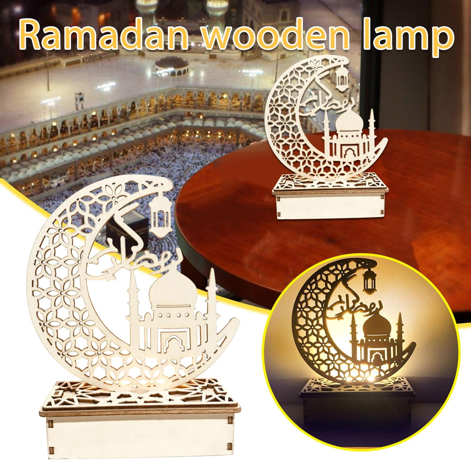 Ramadan Moslim Ledeid Mubarak Geschenken Diy Home Decor Houten Huis Decoratie Voor Eid Al Fitr Ramadan Decoraties Pasen Decoratie
