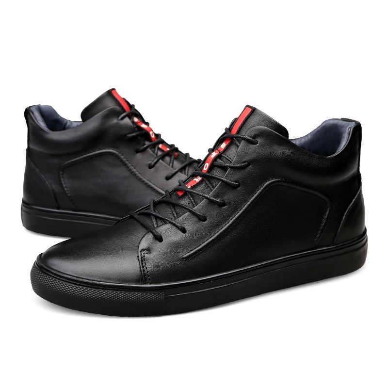 Soft Outsole น้ำหนักเบา Lace Up สบายๆรองเท้าสบายๆชาย PLUS ขนาด Zapatos De Los Hombres Lacets Chaussures Scarpe