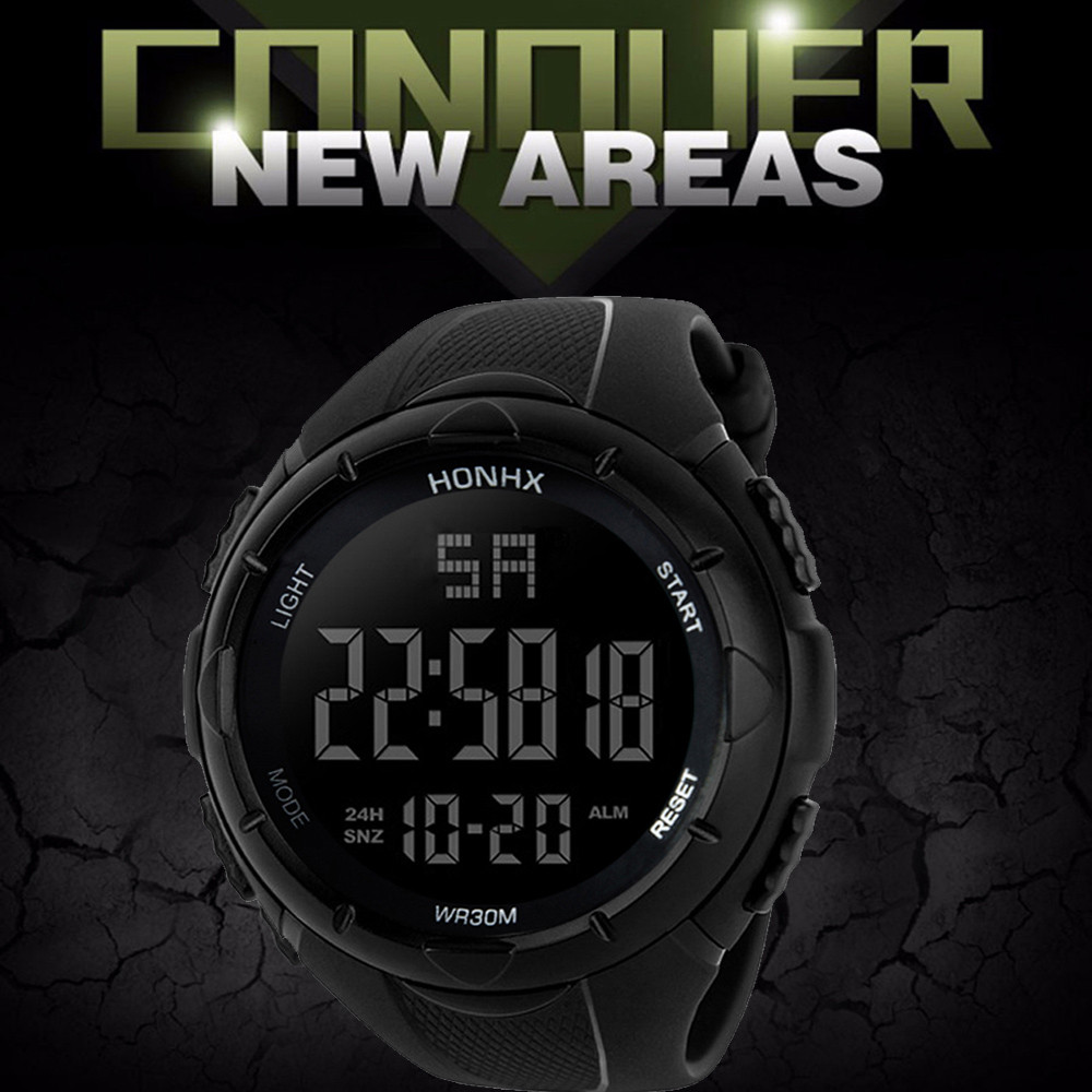 Electronic Military Watch Digital Sport Wrist Watches Black Mens Waterproof Watches Horloges Mannen