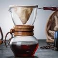 500 мл термостойкий стеклянный кофейник  чашки  Кофеварка  Percolator Pot  практичный кофейник Moka