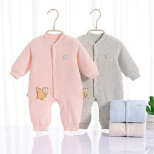 Baby Autumn and Winter Onesie Quilted Thermal hai li rong CHILDREN'S Pajamas Crawling Clothes Thickened Newborn Baby Romper(China)