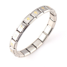 Metal bracelet Cross-border Stainless Steel Bracelet Classic Creative Vacuum Gold-plated Cross Adjustable Elastic