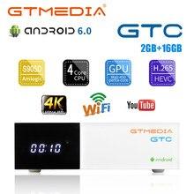 Gtmedia Gtc Android 6.0 Tv Box DVB-S/S2/T/T2/Kabel/ATSC-C 2Gb Ram digitale Tv Box Satellietontvanger DVB-C Kabel 4K Set Top Box