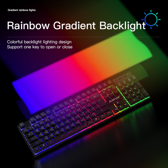 Gaming keyboard and Mouse Wired backlight mechanical felling keyboard Gamer kit Silent 3200DPI Gaming Mouse Set for PC Laptop 3