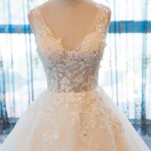 Image 4 - SL 55 الخامس الرقبة شاطئ فساتين الزفاف حجم كبير بوهو رخيصة فستان الزفاف الدانتيل