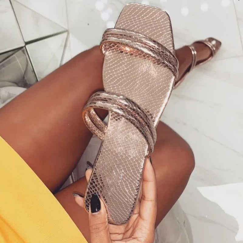 Women Summer Sandals 2020 Flat With Female Sandals Slippers Slip On Open Toe Sandals Casual Outdoor Slippers Narrow Band Slides