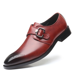 Image 1 - を2020男性は靴手作りブリティッシュブローグスタイルパティ革の結婚式の靴メンズフラットレザーオックスフォード