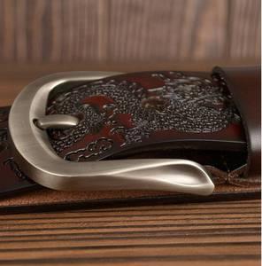 Image 5 - Cinturones de cuero para hombre, ¡oferta! Cinturón de cuero genuino para hombre, Cinturón de piel de vaca de marca, ancho: 3,8 cm, negro, café, naranja