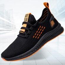 Fashion Sneakers Men Vulcanized Shoes Breathable Air Mesh Mens Casual Shoes Men Black Footware