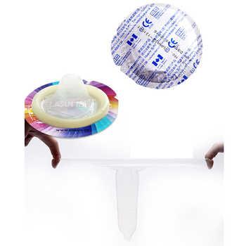 Elasun 54 Pcs 10 Types Latex Dots Pleasure Ultra Thin Ice Hot Condoms Adult Sex Safer Contraception Condoms for Couples