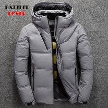 جاكيت شتاء 2019 للرجال معطف سميك حراري عالي الجودة سترة فرائية سوداء وثلجية للرجال ملابس خارجية دافئة للرجال موضة وايت دك داون