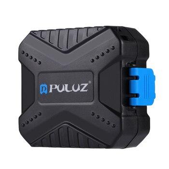 Anti Shock Practical Buckle Lock Waterproof Safe Black Dust Proof Fireproof Mini Portable Storage Card Case