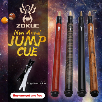 ZOKUE Billiard  Jump Cue 108cm Length 4 Colors 13.5mm Tip Hard Maple Shaft Professional Jump Stick Pool Cue Pool Stick Jump Cue o min snooker cue model cobra high level cue tip 9 5mm 10mm length 145cm 3 4 jointed cues handmade billiard stick