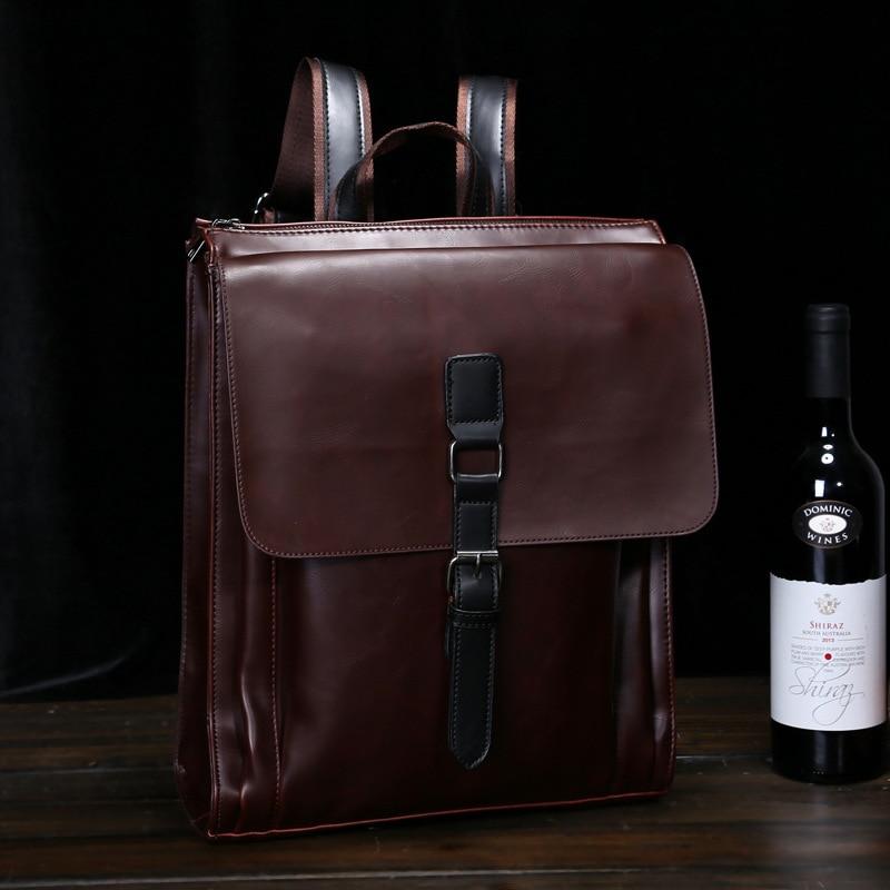 Bag Double Shoulder Bag Men's Fashion Bag Single Shoulder Bag Retro Computer Bag