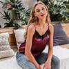 Satin Women's Shirt Milk Strap Elegant Crop Top Sexy V neck Camis Women Short Sleepwear Female Lace Top Summer Party Blusa