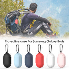 For SAMSUNG Galaxy Buds plus bluetooth earpods Case Silicone With Metal Hook Sho