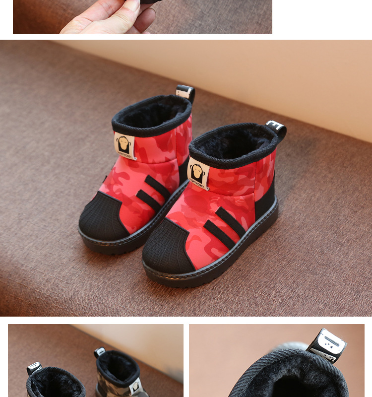 Kids Shoes 2020 Winter Boys Brand Snow Boots Children Fashion Plush Warm Ankle Martin Boots Baby Girls Black Red Sport Shoes