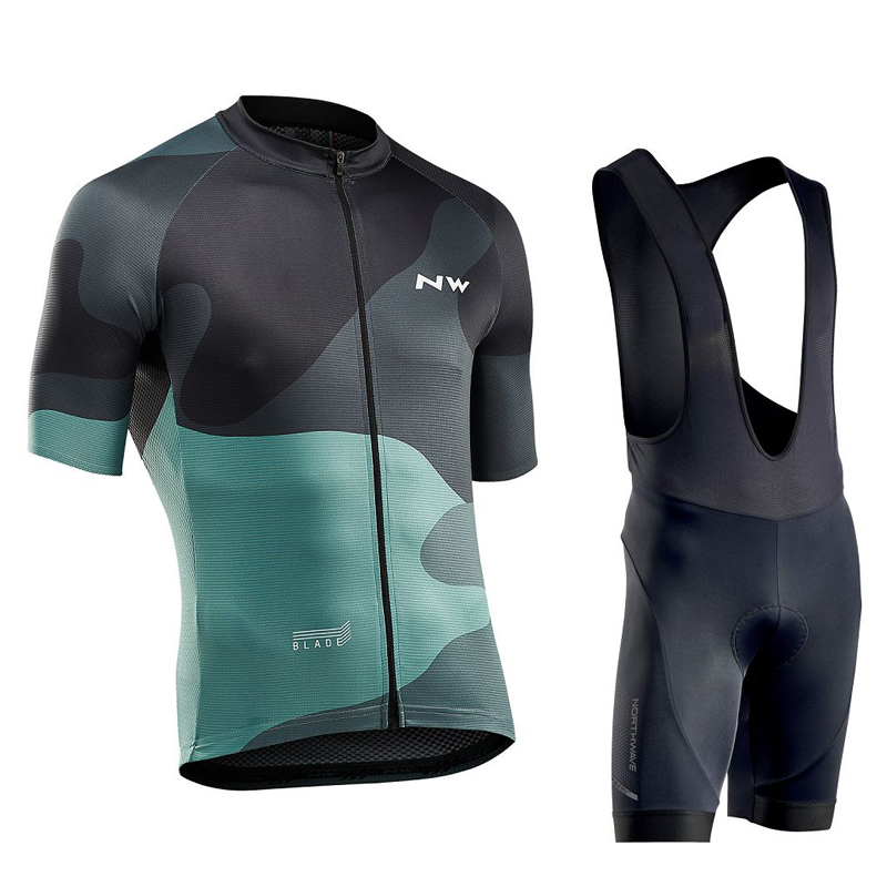 NW Northwave 2019 Bike pro team Cycling Clothing Men Bicycle Summer Cycling Jerseys suit gel pad Bib shorts roupa de ciclismo|Cycling Sets| |  - title=