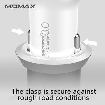 المسؤول عن دعم سيارة MOMAX PD (36W) منفذ في اتجاهين ، شحن في نفس الوقت PD + QC3.0 ، وهما تهمة سريع متوافق على نطاق واسع 1