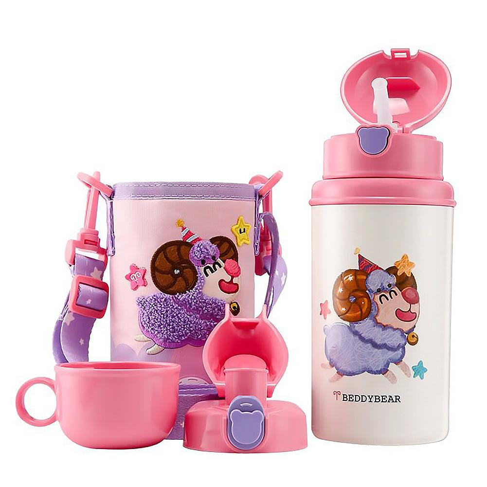 <font><b>Baby</b></font> Cartoon Sheep Stainless Steel Milk Thermos Feeding Cup For Children Insulated Hot Water Bottle Leak-<font><b>poof</b></font> Thermal Cup image