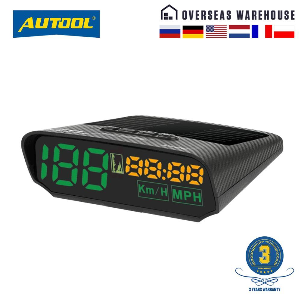 Autool X100S Solar GPS KFZ HUD Digital Head-Up Display Gauge KMH MPH Speedometer