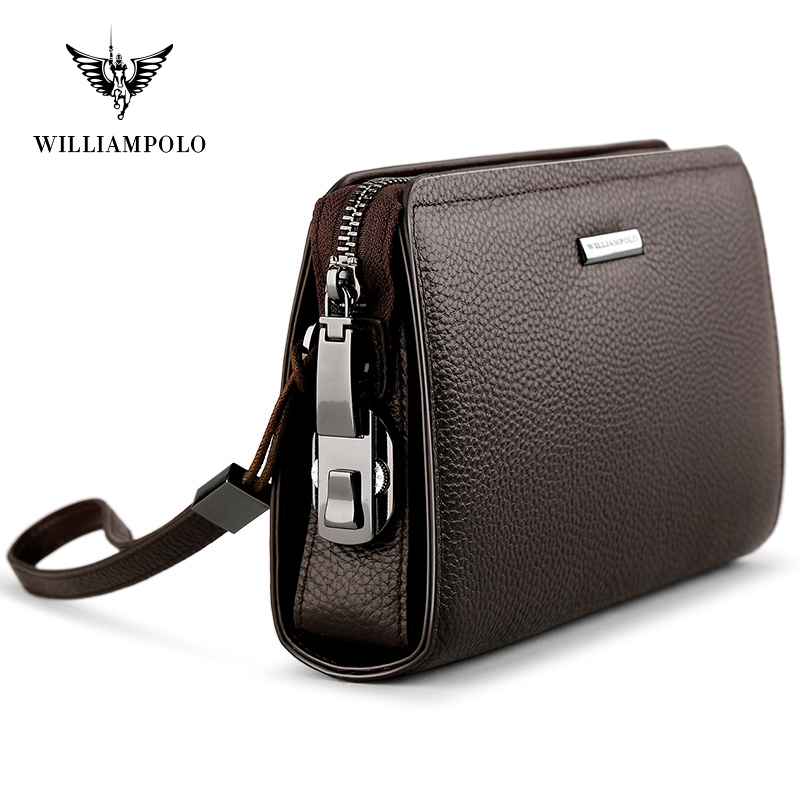 Anti-theft Brush Head Layer Leather Leather Handbag Bag Business Simple Zipper Wallet Clutch Driver's License Bag Bank Card Bag