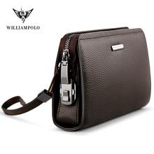 Anti-theft brush head layer leather leather handbag bag business simple zipper w