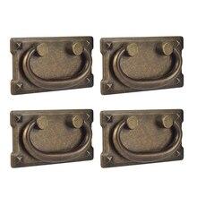 4 шт старинные антикварные бронзовые для выдвижных шкафчиков кольца ручки, двери шкафа мебельные ручки украшения