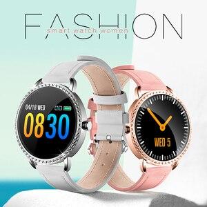 Image 5 - LIGE nowy 1.0 cal moda kobiety inteligentny zegarek mężczyźni wodoodporna pulsometr kalorii Smartwatch kobiety dla android ios iPhone