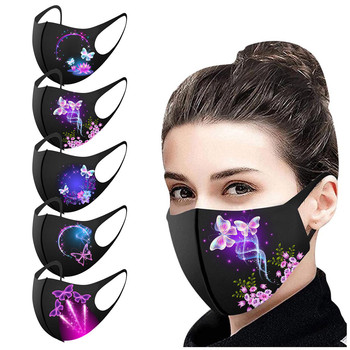 Butterfly Mask Adult's Pretty Reusable Washable Diverse Prints Face Mask Pretty Fashion Earloop Beautiful Protective Mouth Caps image