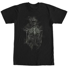 Lost Gods Halloween Skeleton Scream Henna Print Mens Graphic T Shirt(China)