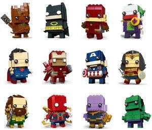 Mini Super Heroes blocks Marvel Avenger Infinity War IronMan Thanos Batman Spiderman Gamora Building Blocks toy(China)
