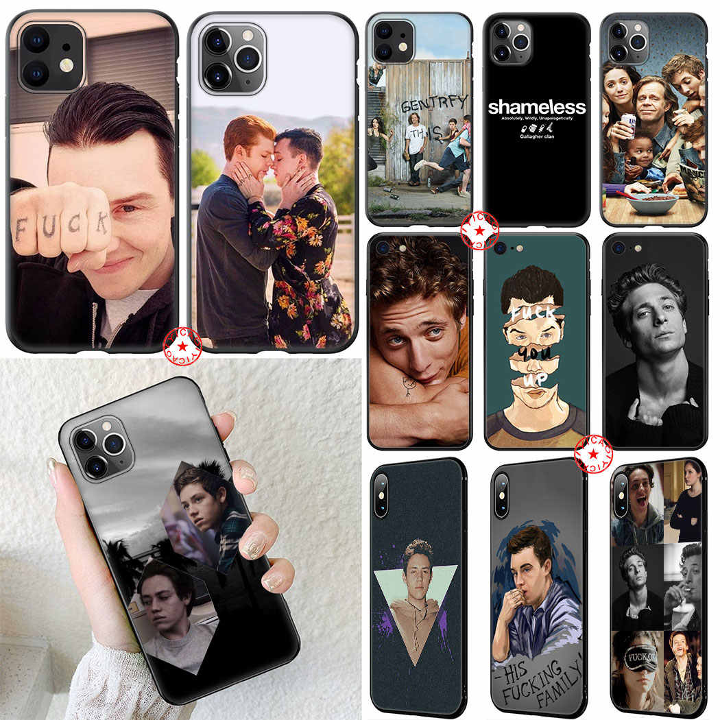 Lip Gallagher Shameless Soft Silicone Case for iPhone 11 Pro XR X XS Max 6 6S 7 8 Plus 5 5S SE Cover