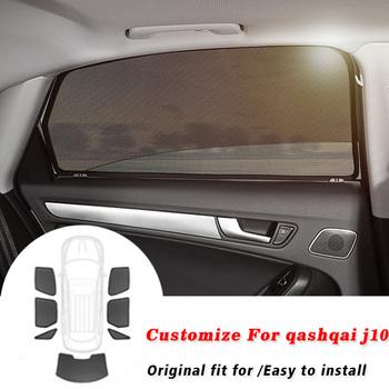 Dla dzieci magnetyczne osłony przeciwsłoneczne do samochodu ochrona UV samochodowa osłona przeciwsłoneczna kurtyna boczne okna samochodu osłona przeciwsłoneczna dla Nissan Qashqai J10 2008-2015 tanie i dobre opinie RKAC z włókien syntetycznych CN (pochodzenie) Zwykłe black Reduce harmful UV Ray Reduce sun glare Increase in-car privacy