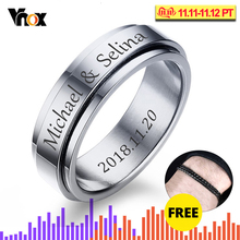 Vnox Personalized Spinner Ring…