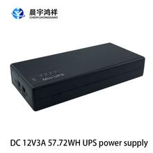 12v 3a 57.72wh ups ininterrupto fonte de alimentação de backup mini bateria para o equipamento elétrico do roteador da câmera