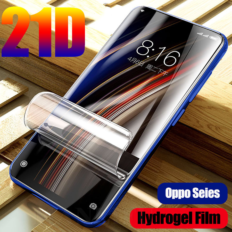 21D Curved Full Hydrogel Film For Oppo Reno Z A5s A1k A9 A5 2020 Clear Screen Protector Film Realme C2 Q 5 X2 Pro XT(Not Glass)