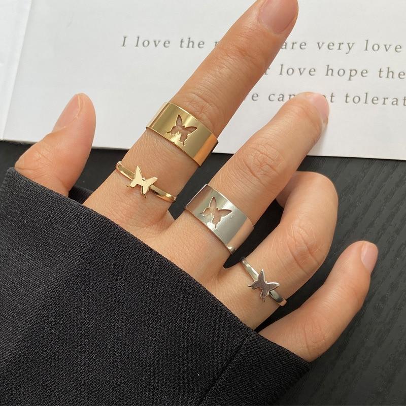 Трендовые винтажные кольца для мужчин и женщин парные кольца для влюбленных набор дружбы помолвки Свадебные Открытые Кольца 2021 ювелирные и...
