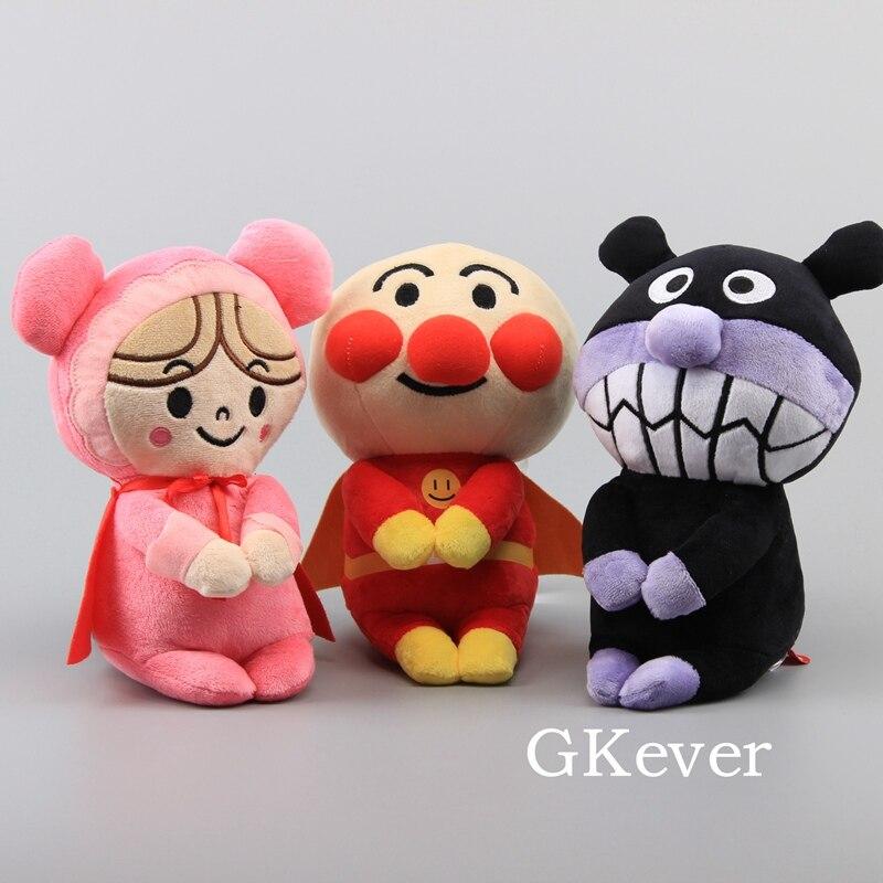10 Cm And 22 Cm Cartoon Anime Anpanman Plush Toys Doll Peluche Cute Bread Superman Stuffed Animals Toys Women Kids Birthday Gift