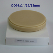 5pcs CAD/CAM PMMA Block Blank Dental Laboratory Products PMMA Discs Disk for Milling Open System Temporary Crowns Bridges 98x12mm grade 5 high purity titanium blank for dental open cad cam milling system titan implant dental lab equipment