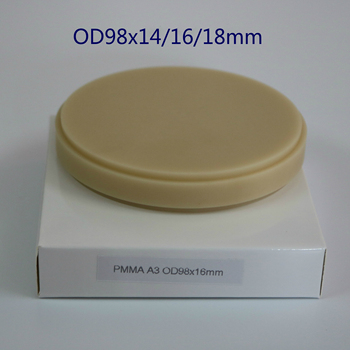 5pcs CAD/CAM PMMA Block Blank Dental Laboratory Products PMMA Discs Disk for Milling Open System Temporary Crowns Bridges grade 5 titanium cad cam milling machince discs 98mm 16mm dental lab cad cam milling material