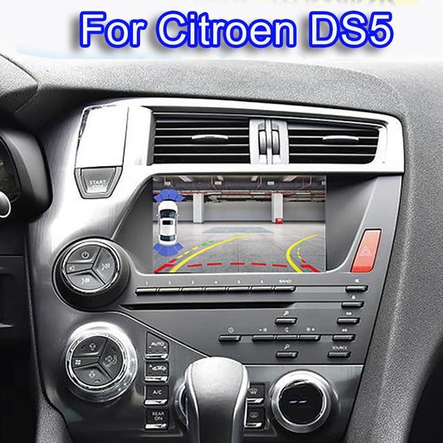 Quad Core Android 6.0 1024*600 voiture DVD stéréo pour Citroen DS5 Auto Radio GPS Navigation Audio vidéo WiFi