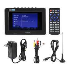 7 pouces TV prise américaine Portable Mini Mobile numérique ISDB-T Signal télévision soutien USB TF carte intégrée 800mah batterie