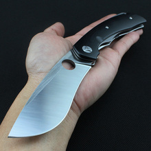 Folding knife C239GPOR built-in bearing system VG10 Blade Camping knife color box Packing