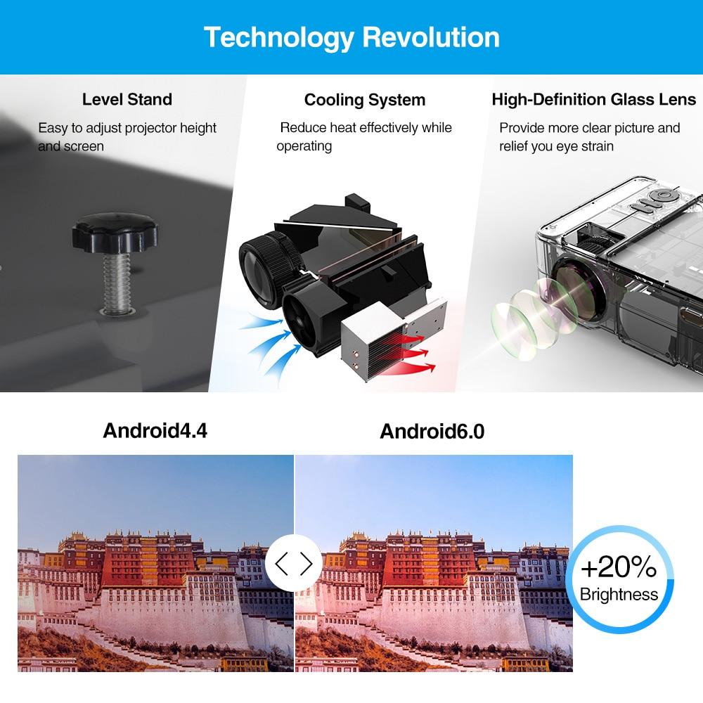 Wifi projetor portátil bluetooth led sem fio inteligente android 3200 lumen casa ao ar livre filme jogos com hdmi usb vga av sd - 5
