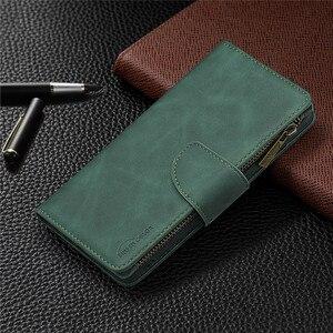 Image 2 - Huawei P 스마트 2020 지퍼 지갑 카드 커버에 대 한 자기 가죽 지갑 케이스 Y5 Y6 Y7 Y9 프라임 2019 전화 케이스 Coque