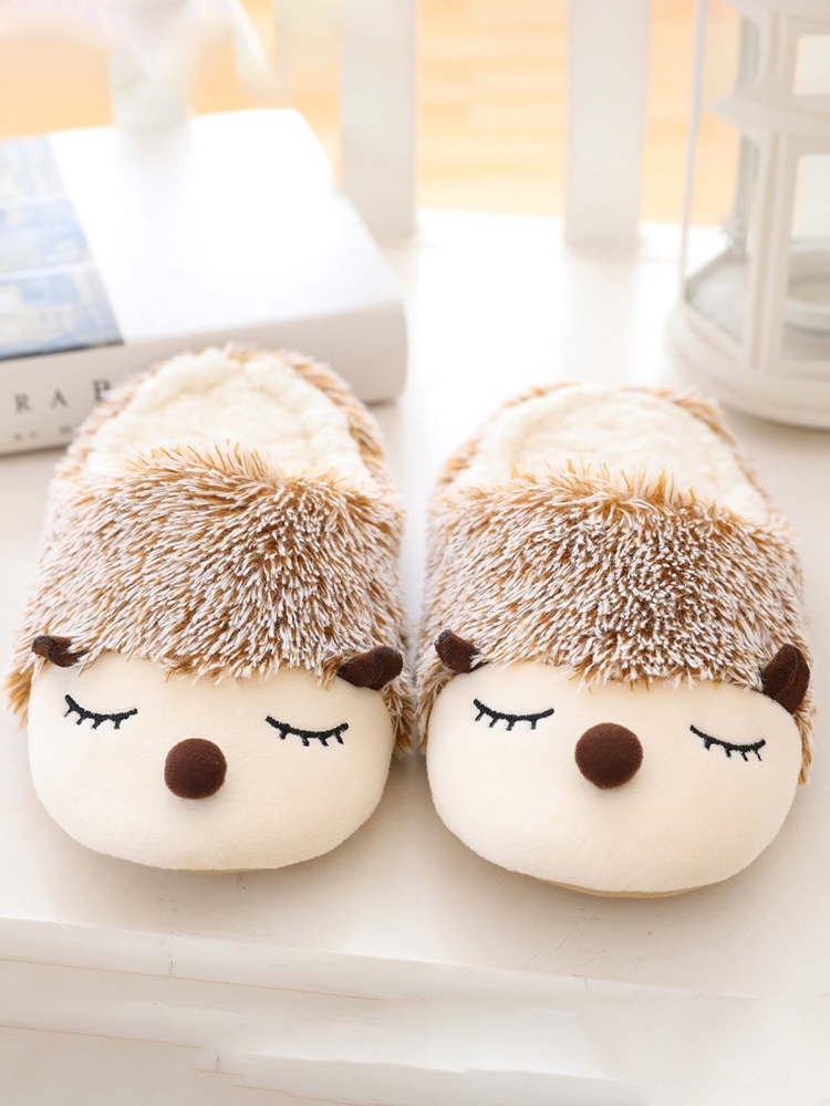 Color Plush Slippers Women Home Floor Cotton Slippers Warm Autumn Winter Ladies Slippers for Home Casual Indoor Shoes VT1304 (9)
