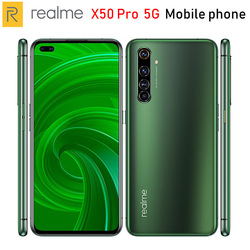 Перейти на Алиэкспресс и купить original realme x50 pro 5g mobile phone 6.44дюйм. 6/8/12gb ram 128/256gb rom snapdragon865 64mp 4200mah nfc 5g smartphone android 10