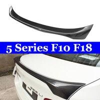 Spoiler de carbono para bmw f10 f18 f10 m5 spoilers tronco traseiro estilo do carro 2010-2016