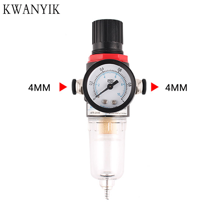 New AFR-2000 Pneumatic Filter Air Treatment Unit Pressure Regulator Compressor Reducing Valve Oil Water Separation AFR2000 Gauge
